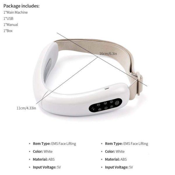 V Shape Face Lift Infrared Light, EMS, Beauty Device_Dimension