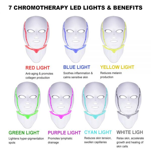 Colorful LED Beauty Mask with Microcurrent_7 Color LED