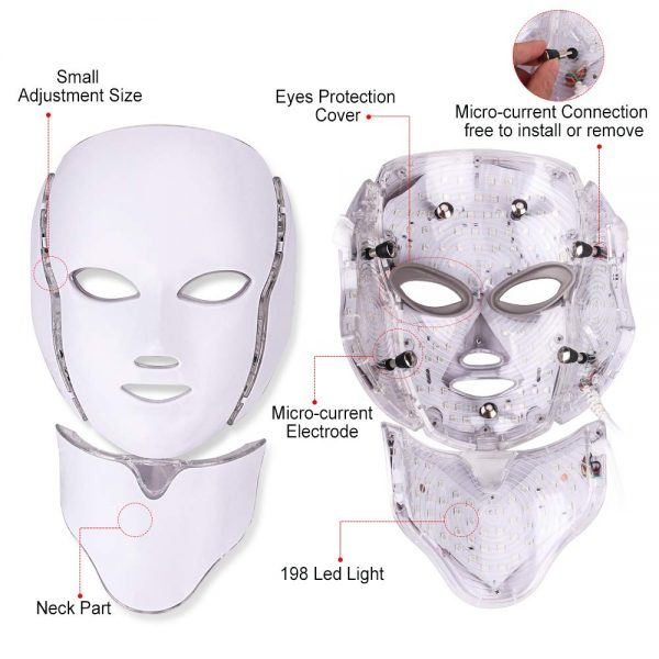 Colorful LED Beauty Mask with Microcurrent_Functions