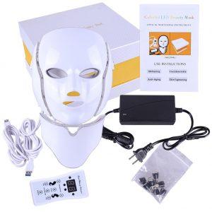 LED Anti Aging Face Mask with Neck Skin Rejuvenation