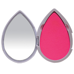 Compact Mirror with 2 Blotting Sponges