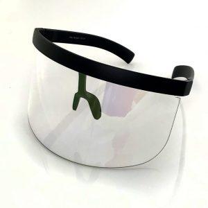 High Fashion Bling Visor Shields – Black Band Clear